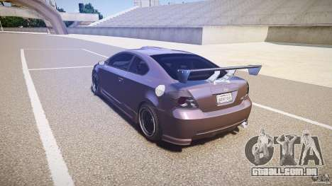 Toyota Scion TC 2.4 Tuning Edition para GTA 4 traseira esquerda vista