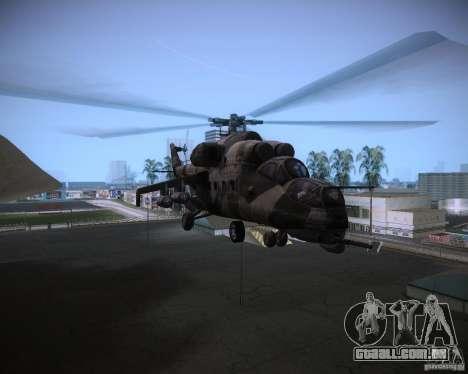 Mi-35 para GTA Vice City vista interior