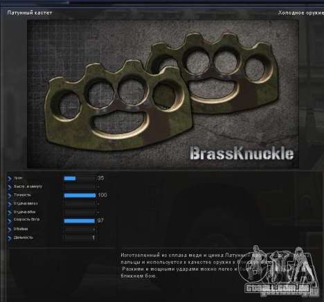 [Point Blank] Brass Knuckles para GTA San Andreas segunda tela