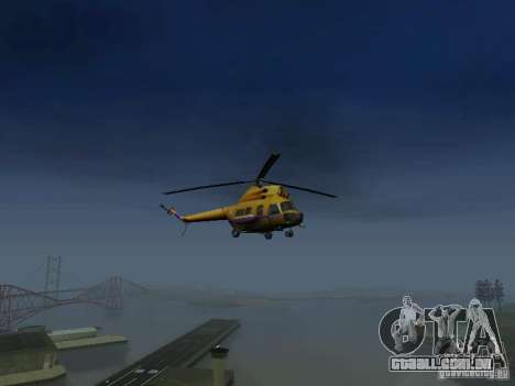 Polícia mi-2 para GTA San Andreas vista direita