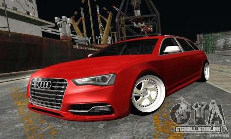 Audi A6 Avant Stanced para GTA San Andreas traseira esquerda vista