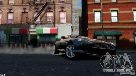 Aston Martin Virage 2012 v1.0 para GTA 4 vista interior