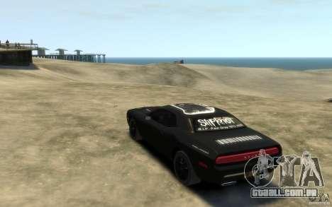 Dodge Challenger Concept Slipknot Edition para GTA 4 traseira esquerda vista