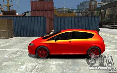 Seat Leon Cupra Light Tuning para GTA 4 esquerda vista