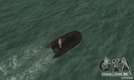 Barco de Cod mw 2 para GTA San Andreas vista traseira