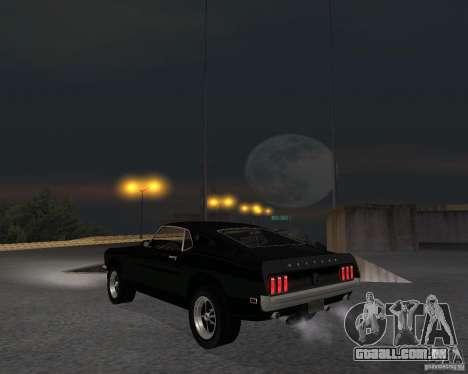 Ford Mustang Boss 1969 para GTA San Andreas vista direita