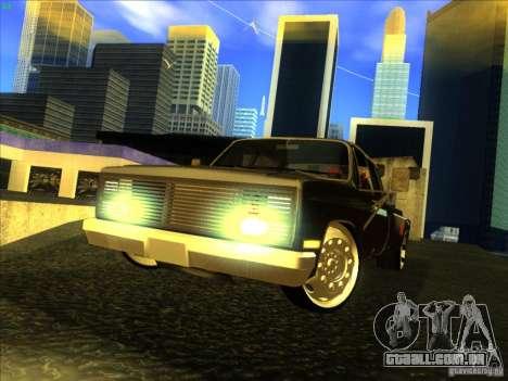 Chevrolet Silverado Towtruck para GTA San Andreas esquerda vista