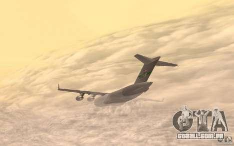 C-17 Globemaster III para GTA San Andreas esquerda vista