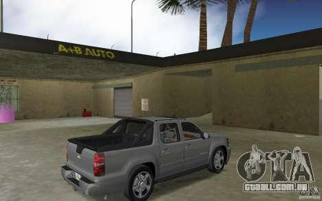 Chevrolet Avalanche 2007 para GTA Vice City vista direita