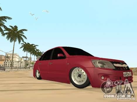 Lada Granta para GTA San Andreas vista superior