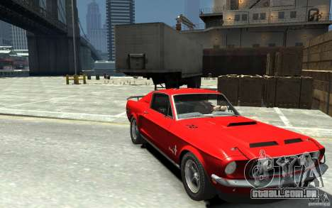 Ford Mustang Fastback 302did Cruise O Matic para GTA 4 vista de volta