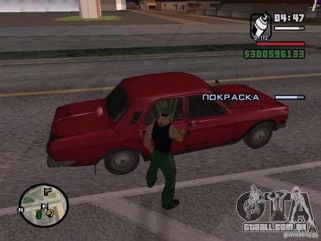 Redesenho do atuador para GTA San Andreas quinto tela