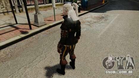 Geralt de Rivia v1 para GTA 4 quinto tela
