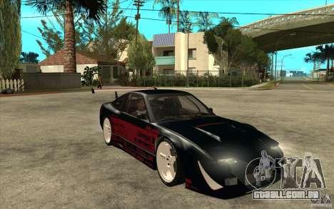 Nissan 180SX - Koguchi Power para GTA San Andreas vista traseira