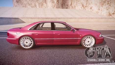 Audi A8 6.0 W12 Quattro (D2) 2002 para GTA 4 vista lateral