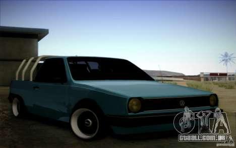 Volkswagen Polo Pickup para GTA San Andreas esquerda vista