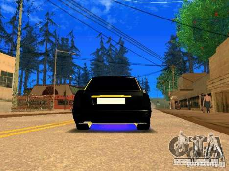 LADA 2170 Priora Gold Edition para GTA San Andreas vista traseira