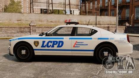 Polícia búfalo ELS para GTA 4 esquerda vista