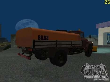 Ko-829 na beta de chassi de caminhão ZIL-130 para GTA San Andreas vista traseira
