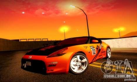 Nissan 370Z V2 para GTA San Andreas interior