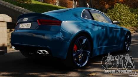 Audi S5 Conceptcar para GTA 4 traseira esquerda vista