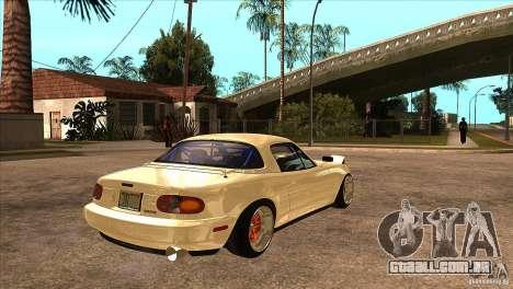 Mazda Miata JDM para GTA San Andreas vista direita