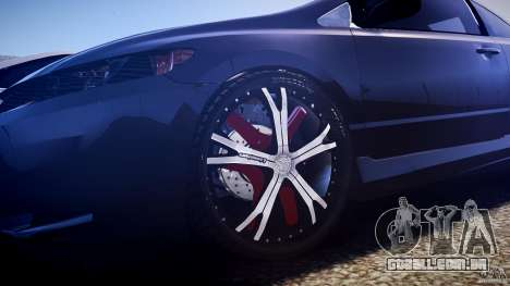 Honda Civic Si Tuning para GTA 4 vista inferior