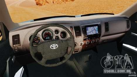 Toyota Tundra 2011 para GTA 4 vista de volta