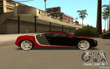 Audi R8 Le Mans Quattro para GTA San Andreas vista interior