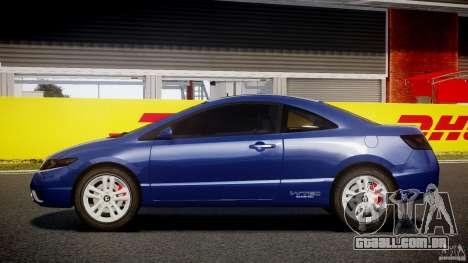Honda Civic Si Coupe 2006 v1.0 para GTA 4 esquerda vista