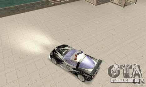 Chevrolet Corvette C6 áspero (NFS MW) para GTA San Andreas traseira esquerda vista