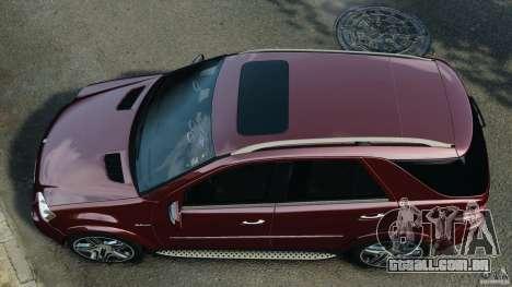 Mercedes-Benz ML63 (AMG) 2009 para GTA 4 vista direita