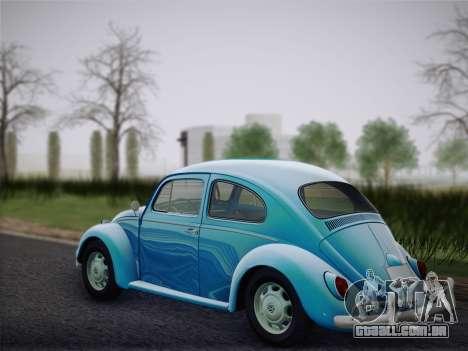 Volkswagen Beetle 1967 V.1 para GTA San Andreas traseira esquerda vista