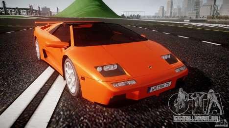 Lamborghini Diablo 6.0 VT para GTA 4 vista de volta