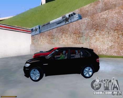 BMW X5M para GTA San Andreas vista traseira