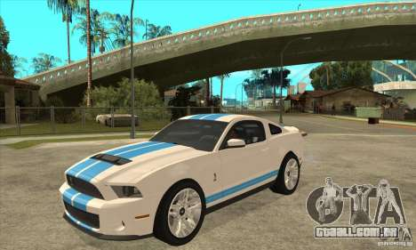 Ford Mustang Shelby GT500 2011 para GTA San Andreas esquerda vista