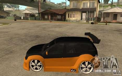Dacia Duster Tuning v1 para GTA San Andreas esquerda vista