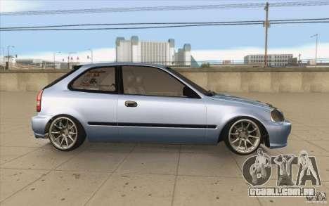 Honda Civic EK9 JDM v1.0 para GTA San Andreas vista interior