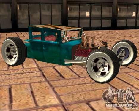 Ford model T 1925 ratrod para GTA San Andreas esquerda vista