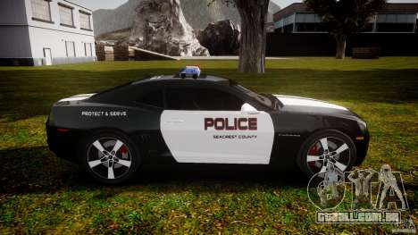Chevrolet Camaro Police (Beta) para GTA 4 vista interior