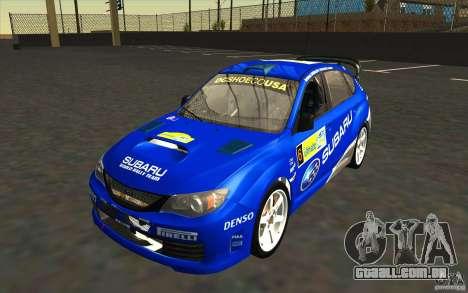 Novos vinis para Subaru Impreza WRX STi para GTA San Andreas interior