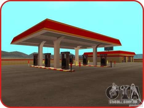 Novo posto de gasolina Shell para GTA San Andreas segunda tela
