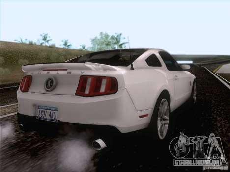 Ford Shelby Mustang GT500 2010 para GTA San Andreas vista direita
