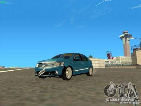 Volkswagen Voyage Comfortline 1.6 2009 para GTA San Andreas vista interior