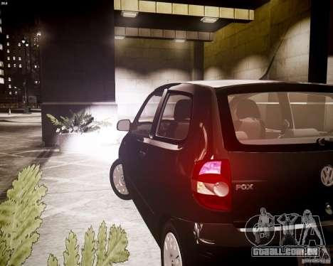 Volkswagen Fox 2011 para GTA 4 vista de volta