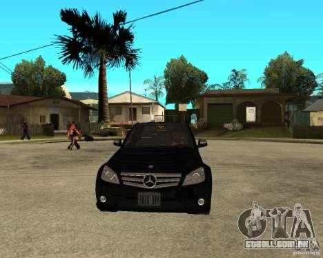 Mercedes Benz C350 W204 Avantgarde para GTA San Andreas vista traseira