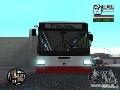 MAN SL 202 para GTA San Andreas vista traseira