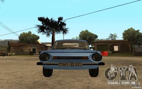 ZAZ 968M para GTA San Andreas vista direita