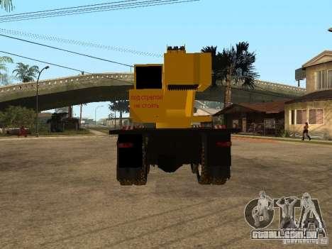 KrAZ caminhão para GTA San Andreas traseira esquerda vista
