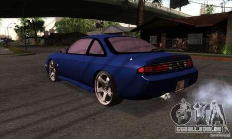Nissan 200SX para GTA San Andreas traseira esquerda vista